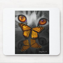 Catterfly is a digital painting by Billie Jo Ellis Mouse Pad
