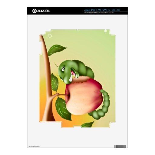 Catterpillar feliz pegatina skin para iPad 3