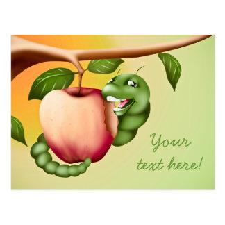 Catterpillar feliz postales