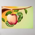 Catterpillar feliz poster