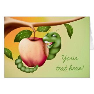 Catterpillar feliz tarjeta de felicitación