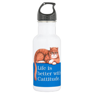 Cattitude 18oz Water Bottle