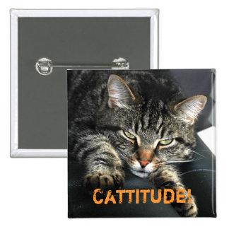 Cattitude #2 2 inch square button