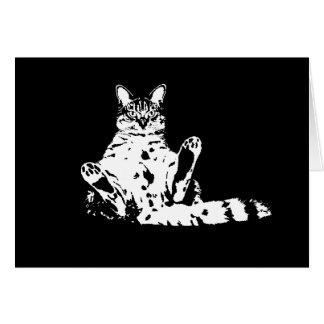 Cattitude A Cat with Attitude Greeting Card