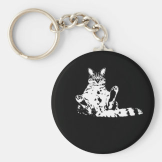 Cattitude A Cat with Attitude Keychain