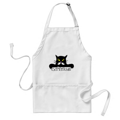 cattitude adult apron