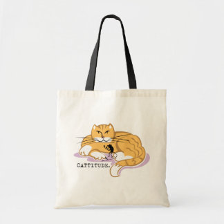Cattitude and Mouse Canvas Bags