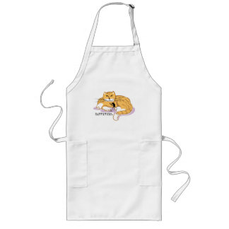 Cattitude and Mouse Long Apron