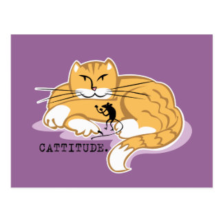 Cattitude and Mouse Postcard
