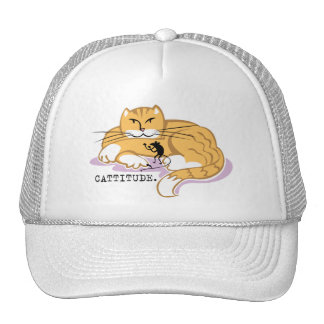 Cattitude and Mouse Trucker Hat