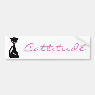 Cattitude Bumper Sticker Car Bumper Sticker