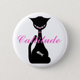 Cattitude Button Pin