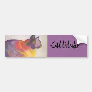 Cattitude Caly Bumper Sticker