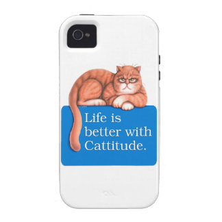Cattitude Vibe iPhone 4 Cover