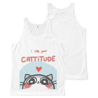 Cattitude cute Tank Top