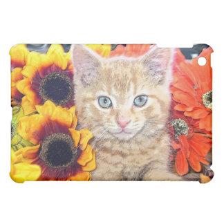 Cattitude, Di Milo, Kitty Cat, Fall Colors Flowers iPad Mini Cover