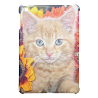 Cattitude, Di Milo, Kitty Cat, Fall Colors Flowers Cover For The iPad Mini