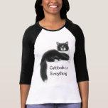 Cattitude es todo jersey del raglán camiseta