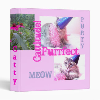 Cattitude fun cat binder. binder