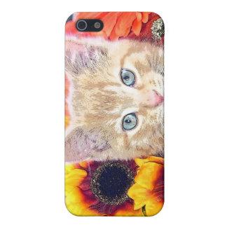Cattitude, gatito anaranjado del gato del gatito c iPhone 5 fundas