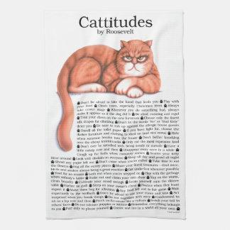 Cattitude Hand Towel