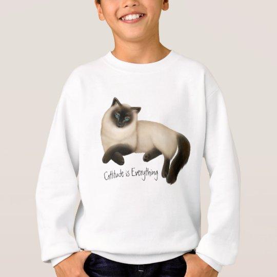 Cattitude is Everything Kids Sweatshirt