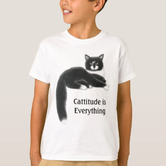 Cattitude is Everything Kids T-Shirt