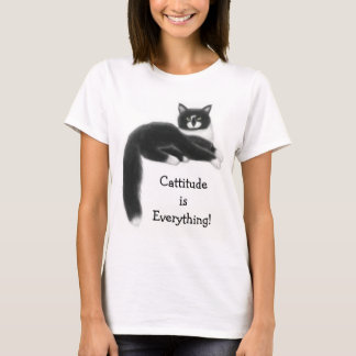 Cattitude is Everything Ladies Baby Doll Shirt
