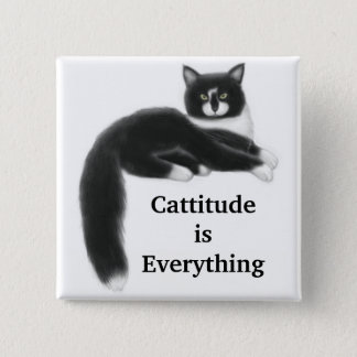 Cattitude is Everything Pin