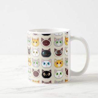 Cattitude Pattern Coffee Mug
