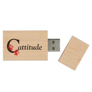 Cattitude Pen Drive De Madera USB 2.0