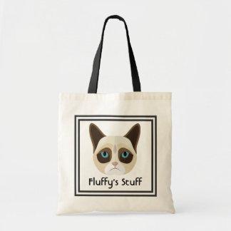 Cattitude Pet Travel Budget Tote Bag