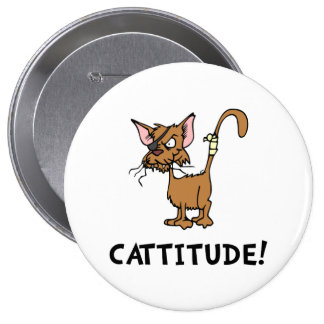 Cattitude Pin Redondo 10 Cm