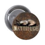 Cattitude Pinback Button