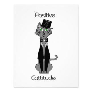 Cattitude positivo invitaciones personalizada