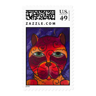 Cattitude Postage Stamp