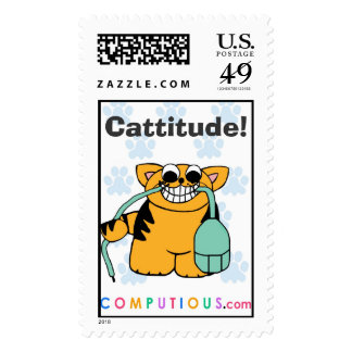 CATTITUDE! Postage Stamp