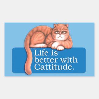 Cattitude Rectangular Sticker