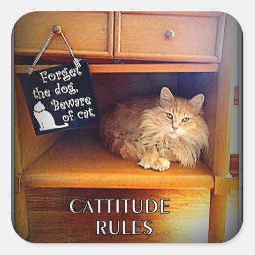 Cattitude Rules stickers