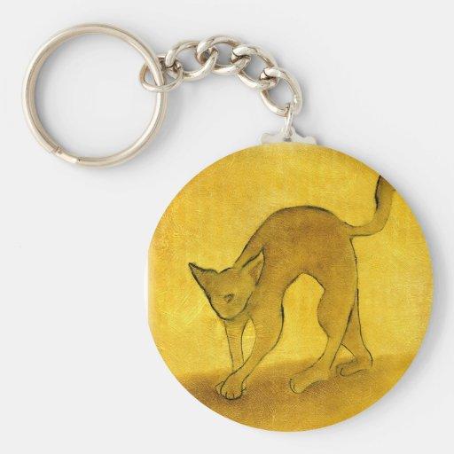 Cattitude- Tomcat Basic Round Button Keychain