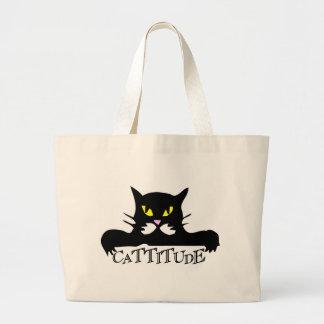cattitude tote bags