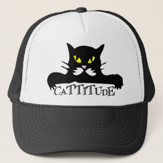 cattitude trucker hat