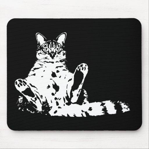 Cattitude un gato con la actitud Mousepad Alfombrillas De Ratones