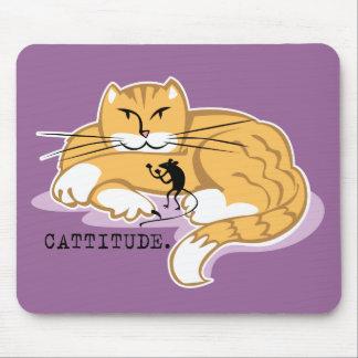 Cattitude y ratón mousepads