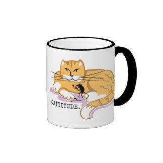 Cattitude y ratón tazas de café