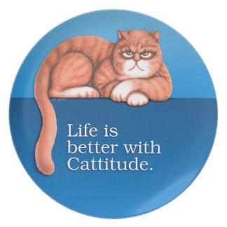 Cattitudes Plate