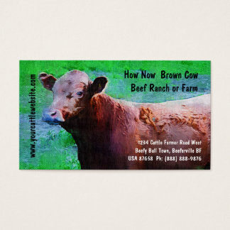Cattle  Beef Ranch or Farm Business Card