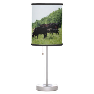 Cattle Black Angus Table Lamp