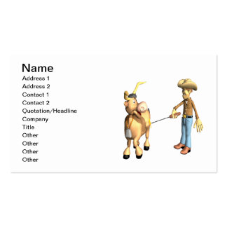 Cattle Branding Business Card