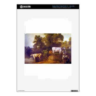 Cattle by a Stream by George Stubbs iPad 3 Skins